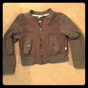 Roxy girls zip up lightweight sweatshirt size 4